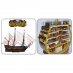 "Admiral Nelson's ship VICTORY scale 1/84  +  Section of the Admiral Nelson's ship ""VICTORY"" scale 1/72 (Full set for assembly №1-120 + №121-150) - MavzolHobby"