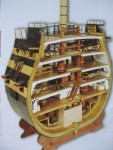 "Section of the Admiral Nelson's ship ""VICTORY"" scale 1/72 (Full set for assembly №121-150) - MavzolHobby"