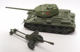 Tank T-34-85 scale 1/16 + cannon ZIS-3 scale 1/16 (Full set for assembly №1-120 + №121-150) - MavzolHobby